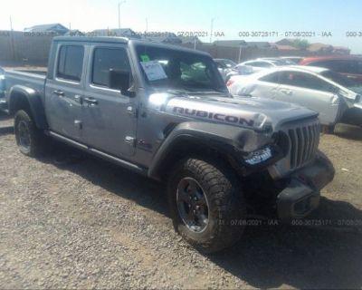Salvage Silver 2020 Jeep Gladiator