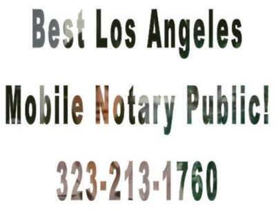 Whittier Mobile Notary Public