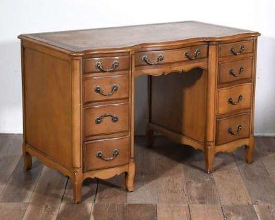 LOVESEAT.COM Vintage Furniture & Decor Auction - Colorful Upholstered Sofas, Natural Wood Bed Frames
