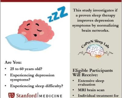 Paid Sleep and Depression Research Study