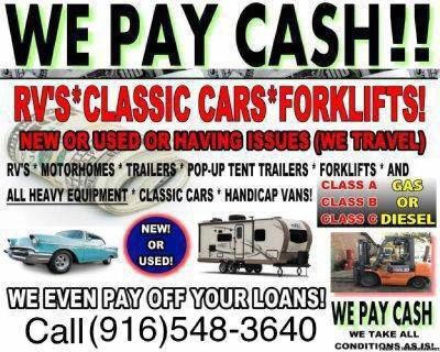 WANTED All Motorhomes Fifth Wheels & Travel Trailers