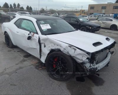 Salvage White 2020 Dodge Challenger