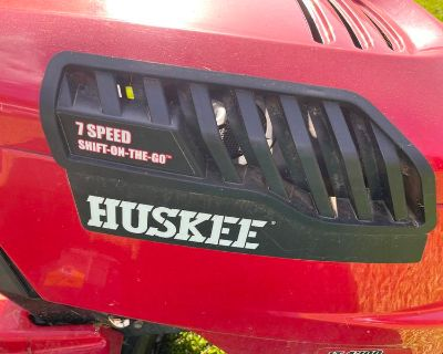 Huskee Riding mower and clippings sweeper