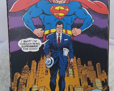 Brand New - Superman wood mount poster