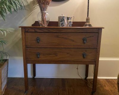 Antique side table from England.