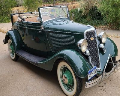 1934 Ford Model 40 Deluxe Roadster Convertible for sale in Denver