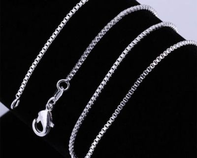 """CLEARANCE ***BRAND NEW***16"""" Sterling Silver Box Chain***"""