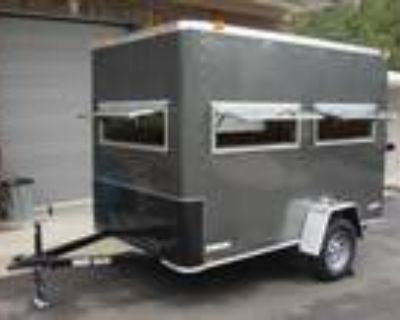 Not in Stock! 6ft X 10ft Enclosed Hunting Trailer with Pop Up Blind Windows!