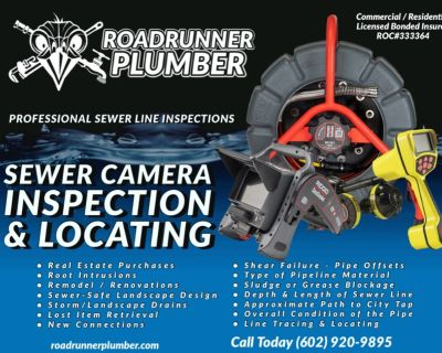 ✪ Sewer Camera Inspection & Locating ✪ Plumbing * Phoenix * Surprise AZ
