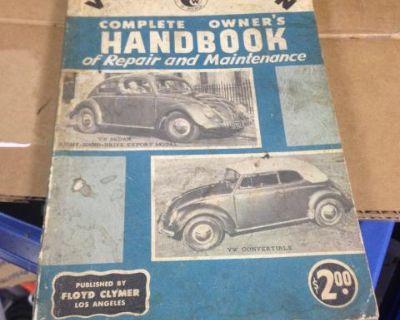 1957 Clymers Manual With VWoa Club Emblem