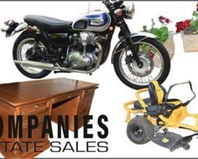 Companies Estate Sales Presents: Brooks GA KAWASAKI W650 CUB CADET ULTIMA ZT1 Furnishing Tools more