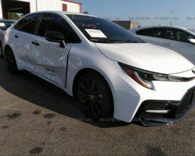 Salvage White 2021 Toyota Corolla
