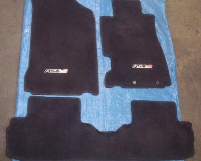 2002-2006 Acura Rsx Type-s Floor Mats (driver, Pass, Rear) Black **oem