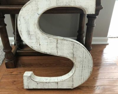 Large Wooden S
