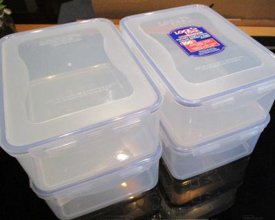 Lock & Lock Stackable, Airtight Containers. Going Camping or on a Picnic or out for a Boat ride