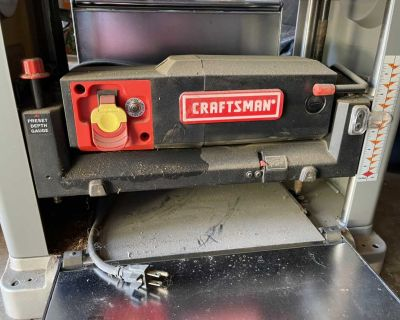 Craftsman 13 planer automatic feed 26 FPM 16000cuts per minute 8000 rpm 2 1/2 HP galley and Powers