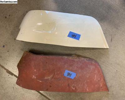 Left rear fender mudflap repair sections