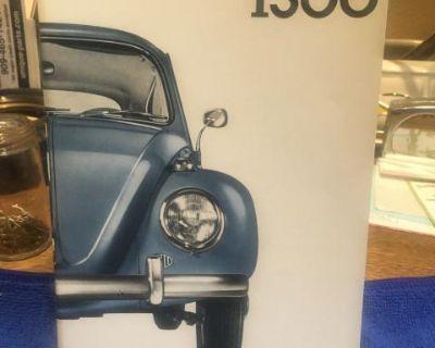 NOS glove box manual 1966 bug