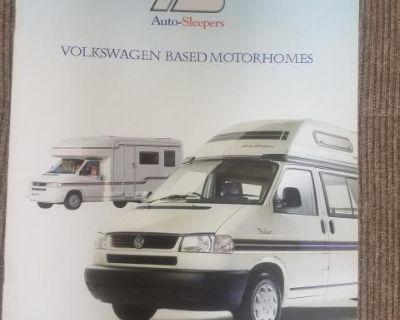 VW Camper Sleeper European sales brochure