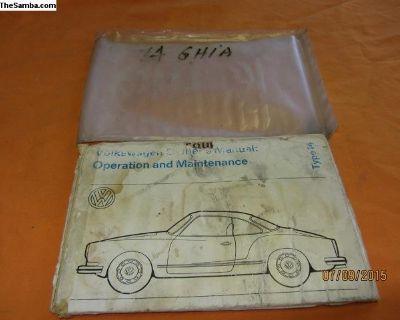 1974 ghia owner's manual