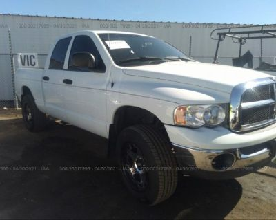 Salvage White 2004 Dodge Ram 1500