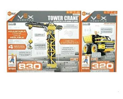 New - Hexbug VEX Robotics Stem Learning Tower Crane & Dump Truck Building Set