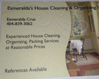 Esmeralda's House cleaning & organizing services
