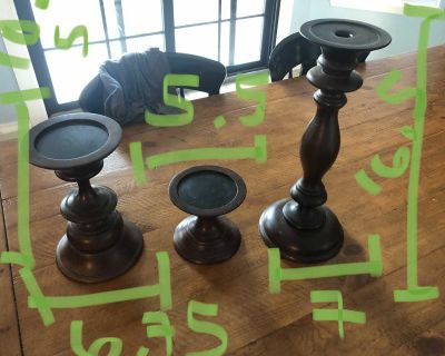 Pottery barn candle stick holders