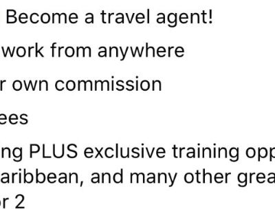 Work from Home booking travel!