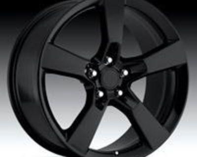 22'' Inch Chevy Camaro Ss Replica Gloss Black Wheels Tires 22x9 & 22x10 Rims