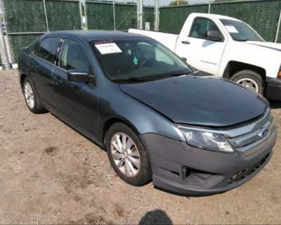 Salvage Gray 2011 Ford Fusion