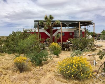 Red Rocket Vintage Trailer at The Buzzards Roost Permaculture Ranch - Joshua Tree
