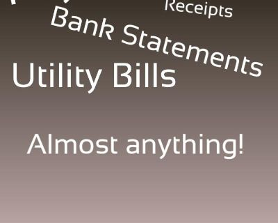 Paystubs, Bank Statements, ss card, Utility Bills