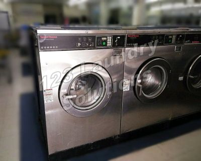 Fair Condition Stainless Steel Speed Queen Front Load Washer 60lbs SC60BC2YU Used