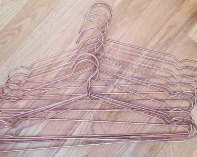 50 Rose Gold Metal Wire Hangers