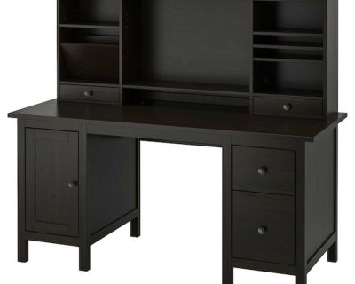 Looking for: a smaller black desk, preferably with a hutch