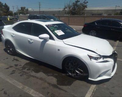Salvage White 2015 Lexus Is 250