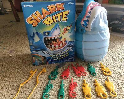 Shark bite fishing game