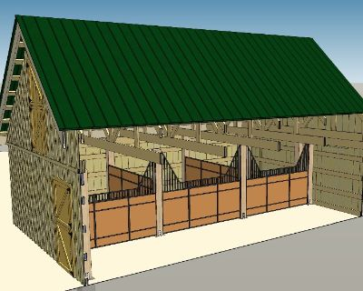 40 x 60 Wood Barn Kit