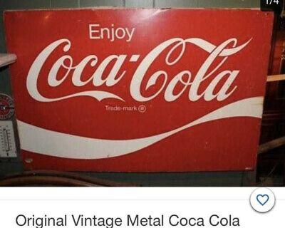 Coca Cola metal vintage sign