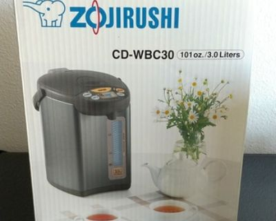 Zojirushi Micom Water Boiler & Warmer, 3.0 Liter, Silver Brown