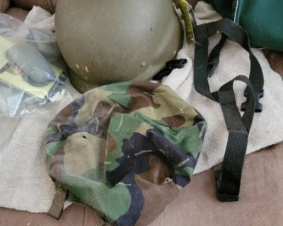 FS PASGT helmet, size L, with extras