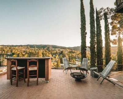 Eclectic Multi Level Deck + Bar with Million Dollar View, Encino, CA