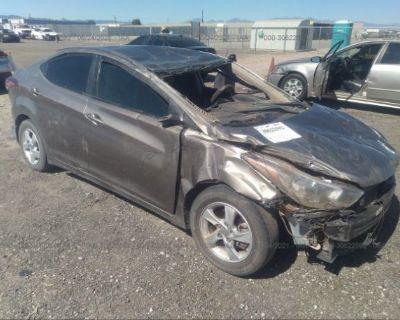 Salvage Brown 2015 Hyundai Elantra