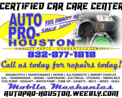 Certified MOBILE Mechanics Serving Houston Harris County TX Since 2006