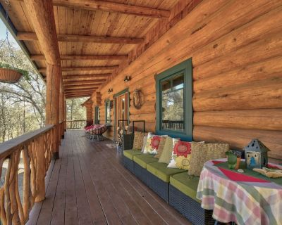 Beautiful Log Home on 6 acres with 30 foot ceilings and Creek - Browns Valley
