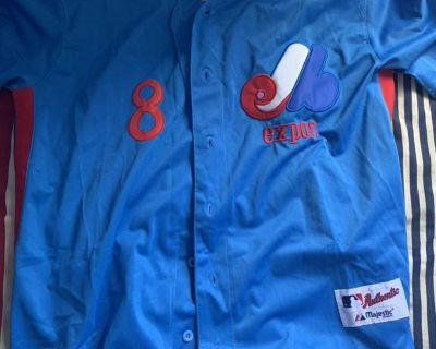 Signed Gary Carter #8 Expos Retro Vintage Jersey