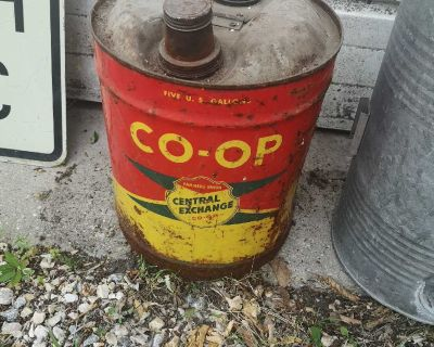 Vintage Central Co-op Gas Can