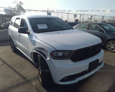 Salvage White 2018 Dodge Durango