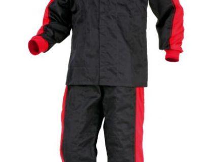 Dr Wolf Racing Suit 2 Pc Ta - 503b - 2 B/w Sfi - 3.2